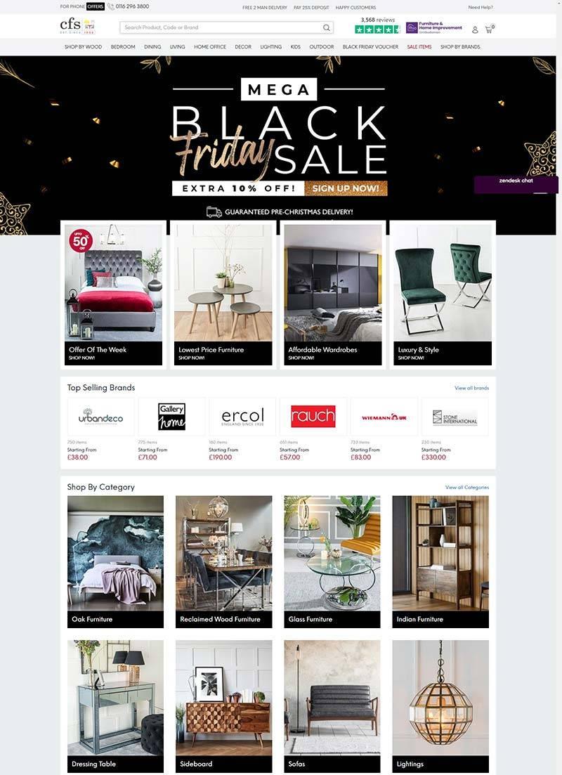 Choice Furniture Superstore 英国品牌家居购物网站