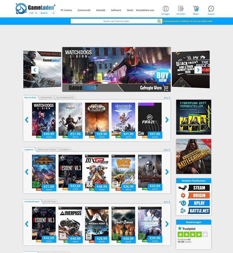 Gameladen 德国游戏应用商店购物网站