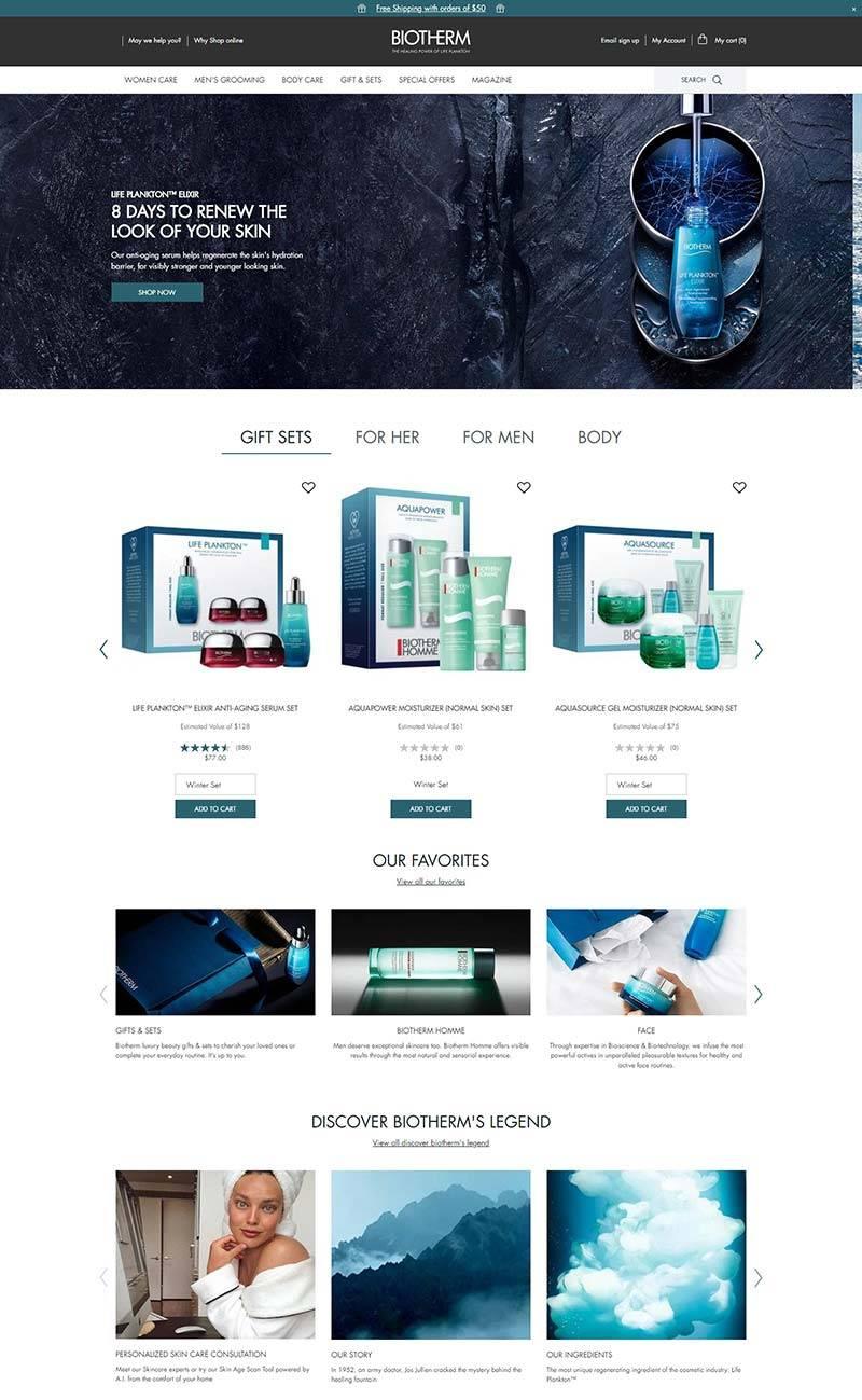 Biotherm 碧欧泉-法国高档护肤品品牌网站