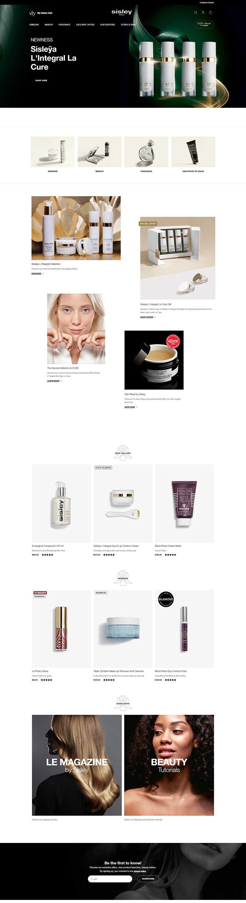 Sisley Paris 法国希思黎植物美容品牌网站