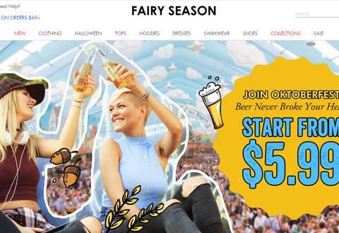 Fairy Season 美国时尚服装批发网站