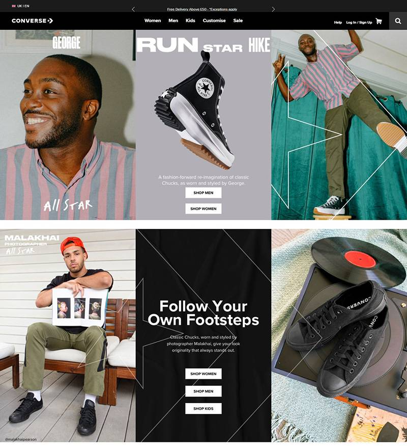 Converse 匡威-美国品牌鞋履购物网站