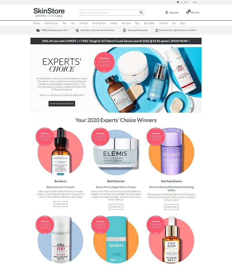 SkinStore 美国品牌美妆护肤品购物网站