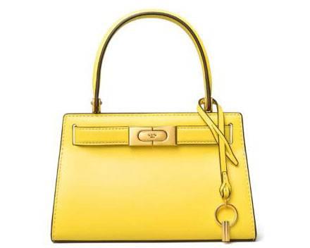 补货!Tory Burch新款Lee Radziwill手提包mini小号黄色款6折$298.8