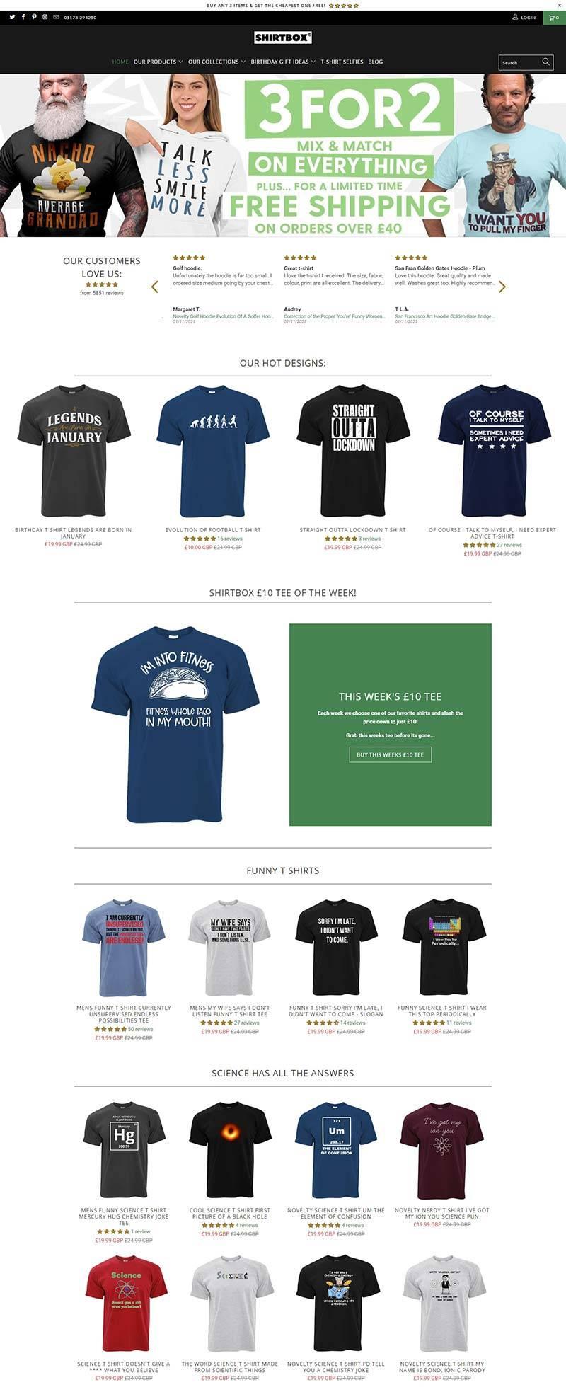 Shirtbox 英国原创服饰品牌网站