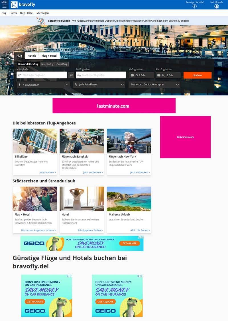 Bravofly 德国特价机票预订网站