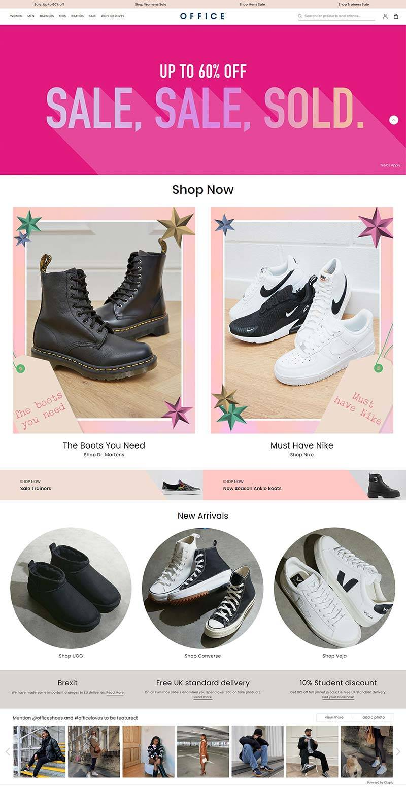Office Shoes 英国时尚鞋履品牌网站