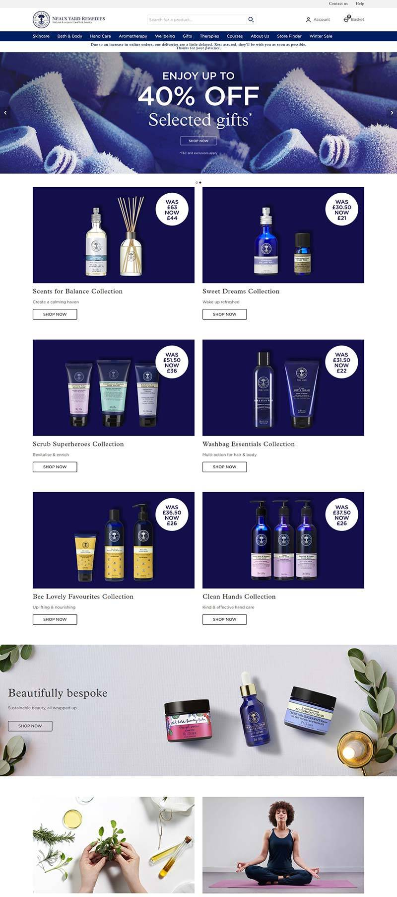 NYR-Neals Yard Remedies 英国健康美容品牌网站