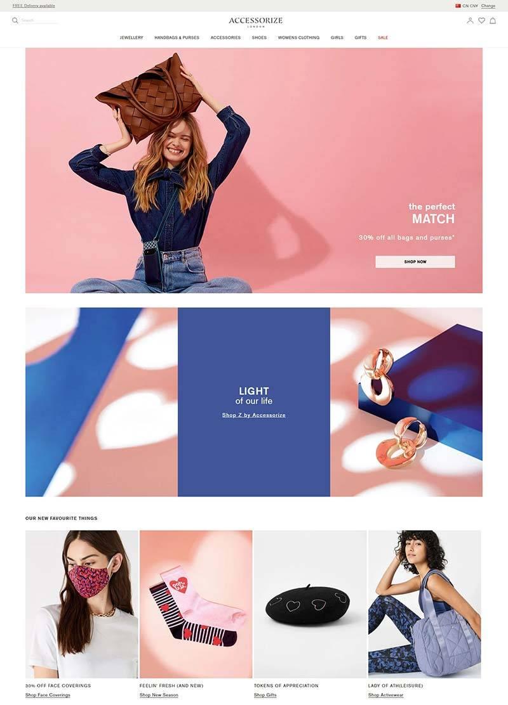 Accessorize 英国时尚服饰品牌网站