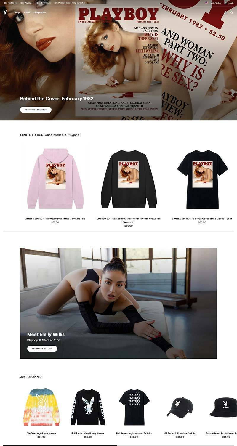 Playboy 花花公子-美国休闲娱乐品牌网站