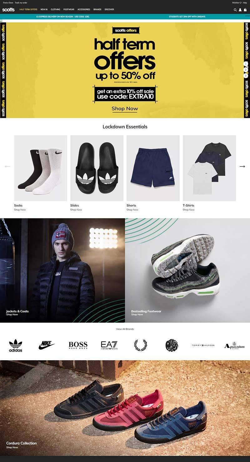 Scotts 斯科茨-英国休闲运动服饰品牌网站