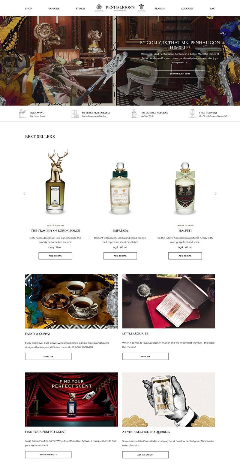 Penhaligon's 潘海利根-英国香氛品牌购物网站