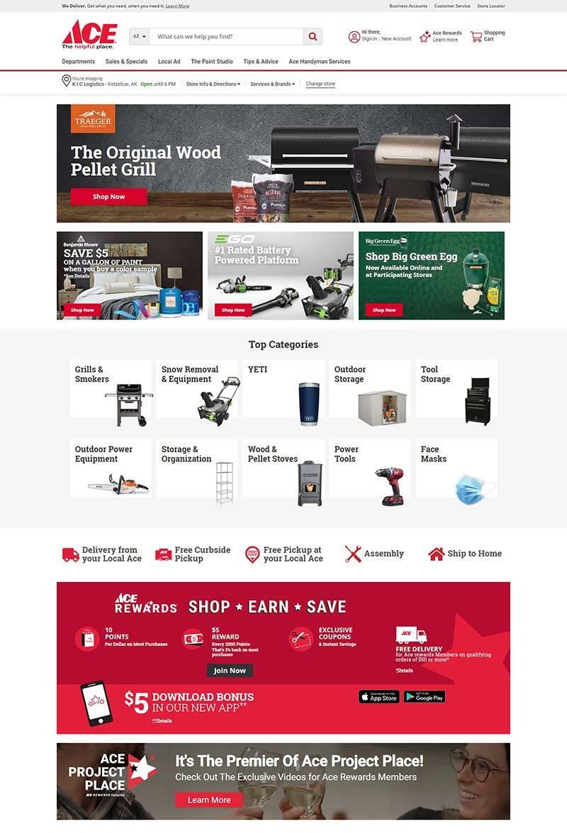 Ace Hardware 美国连锁五金百货品牌网站
