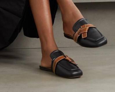 LOEWE Gate 明线双色皮革乐福鞋退税实付£458.33