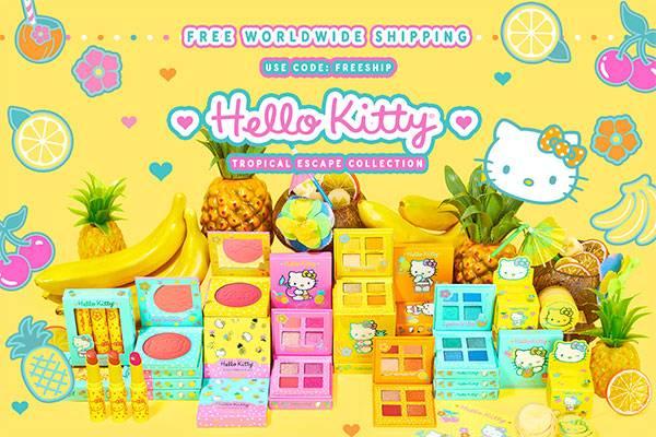 Colourpop官网全场彩妆订单无门槛全球免邮,另有hello kitty系列上新