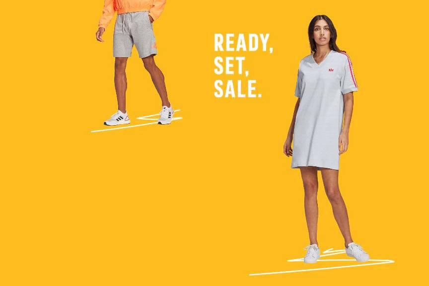 Adidas阿迪达斯英国官网夏季大促低至5折+额外8折