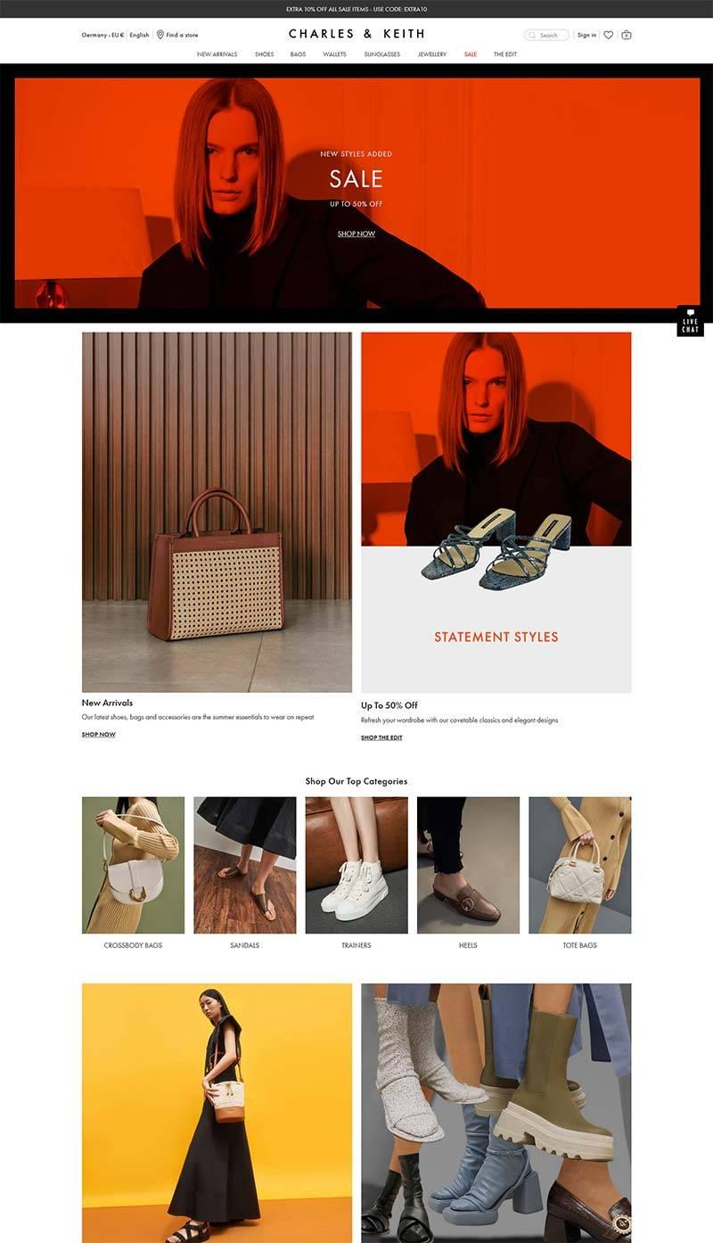 Charles & Keith DE 新加坡时尚品牌德国官网